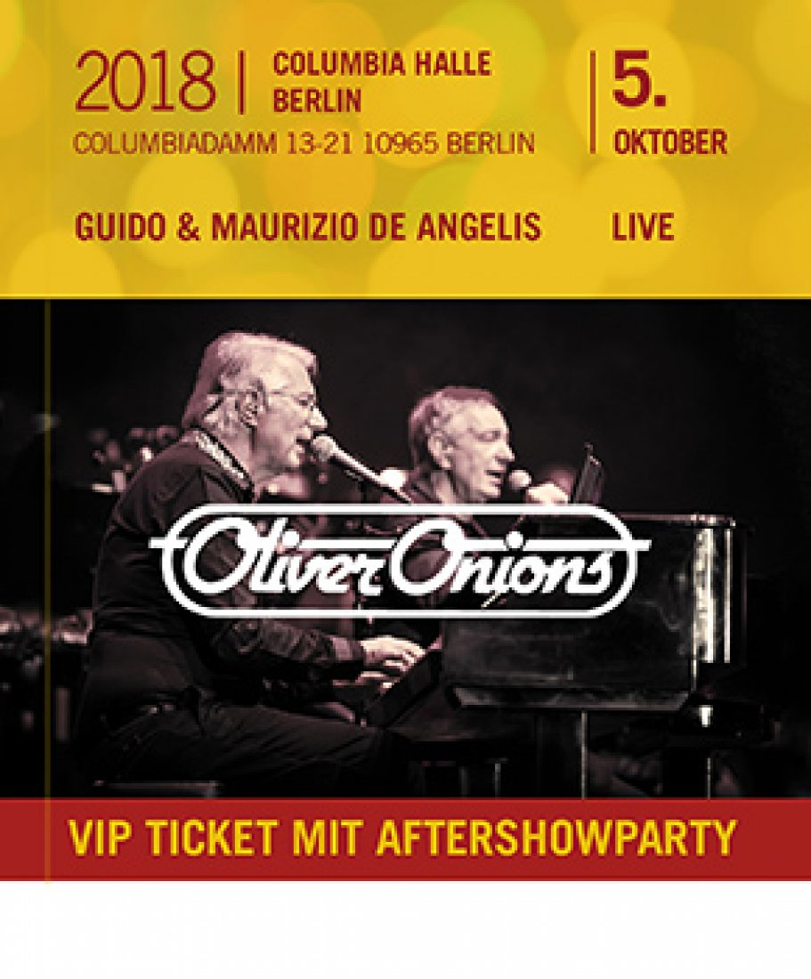 Oliver Onions - 5.10.18 Berlin inkl. Aftershowparty - Sitzplatz